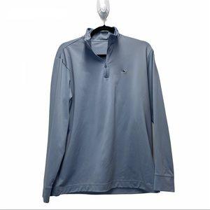 Vineyard Vines Performance Gray Quarter Zip Jacket